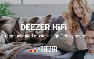 Deezer HiFi 1 Month Subscription & Warranty: Unlimited Music Streaming