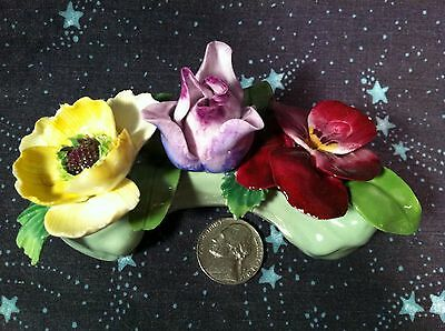Antique Vintage Staffordshire Flower Bouquet Fine Bone China Made In England
