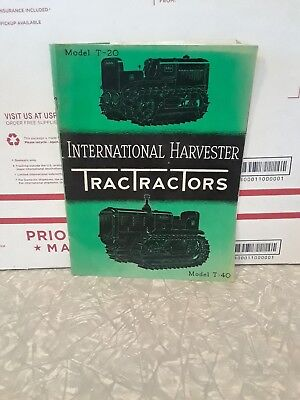 International Harvester tractors T20 and t40 35 page booklet