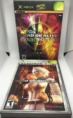 Dead or Alive Ultimate 1 & 2 + DOA 3 Original Xbox Fighting Games Complete NM