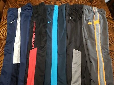 Lot Of 5 Boys Under Armour & Nike Athletic Sweats Pants Size 7 - Excellent