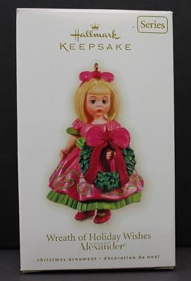 2009 Hallmark Ornament Wreath of Holiday Wishes 14th in Madame Alexander Series