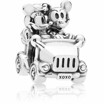 NEW 2018 Authentic Pandora Bead Disney Mickey & Minnie Vintage Car Charm 797174