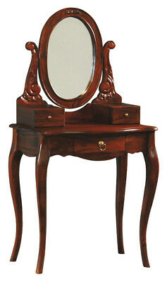 NEW Queen Ann 3 Drawer Small Dressing Table - La Verde,Dressing Tables