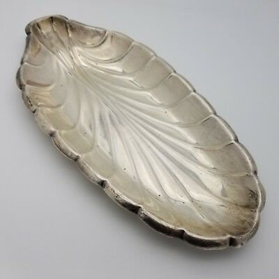 Reed & Barton Sterling Silver 12.5' Inch Leaf Shape Candy Fruit Dish Tray Plate