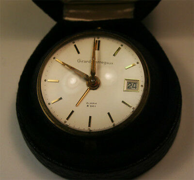 Vintage Girard Perregaux 8-Day  Alarm Clock Swiss Made