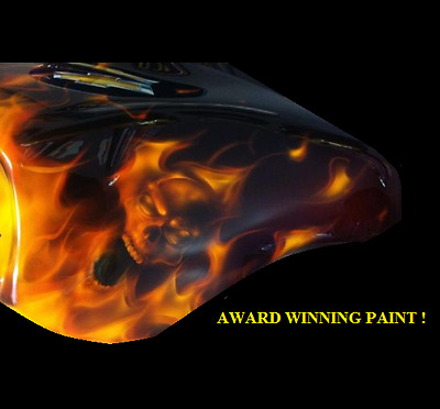 Harley-Davidson Street Glide Paint Job - Flames Graphics Pinstriping- Sale!!!!!