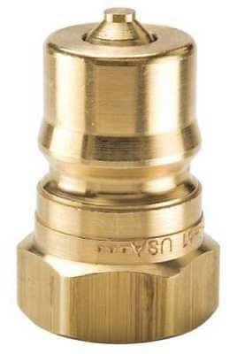 Five (5) PARKER Coupler Nipple,3/8-18,3/8 In. Body,Brass, BH3-61