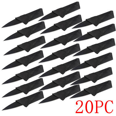 20 x Credit Card Knives Lot Folding Wallet Thin Pocket Survival Micro Knife HOT