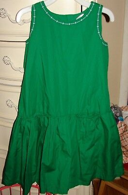 Hanna Andersson Girls Size 11 To 13 Years Gorgeous Green Dress New With Tags