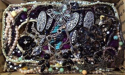 Huge Vintage - Now Jewelry Lot Estate Find Junk Drawer UNSEARCHED UNTESTED #600