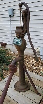 Antique Cast Iron Farm Well Pump, Cedar Rapids,Iowa Large! Cedar Rapids Pump Co.