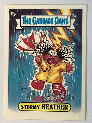 The Garbage Gang Australia Card Sticker Garbage Pail Kids 7a Stormy Heather 1985
