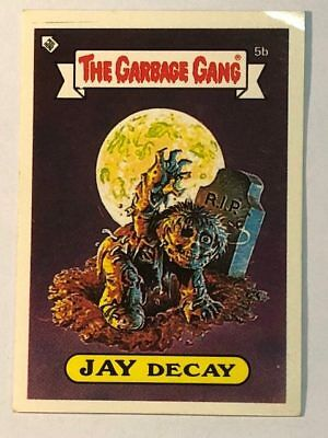 The Garbage Gang Australia Card Sticker Garbage Pail Kids 5b Jay Decay 1985
