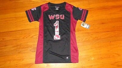 sports shoes 65217 3f5e8 NCAA WASHINGTON STATE Cougars Women's Double Sided Jersey Shirt Small