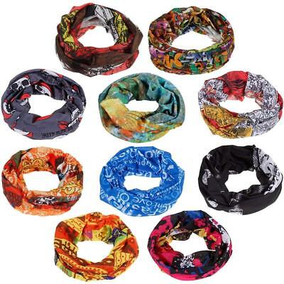 10Pcs Sport Headwear Bandana Headbands Seamless Magic Head Face Mask Tube Scarf