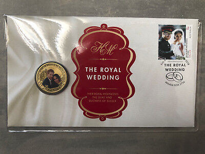 New Mint Uncirculated Harry and Meghan Royal Wedding $1 Coin PNC Limited to 7000