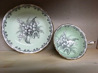 """1940s PARAGON Fine Bone China """"To the Bride"""" Tea Cup and Saucer"""