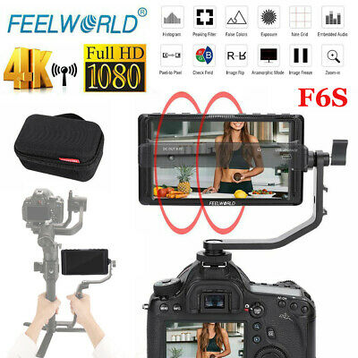 "Feelworld F6S 5"" IPS 1920 x 1080 4K HDMI 16:9 HDMI 1/4"" Screw Camera Monitor gd"