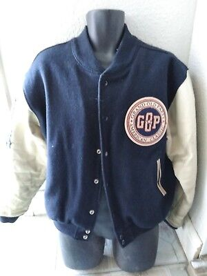 Republican Jacket VINTAGE Grand Old Party GOP SIZE M RARE Leather Sleeves