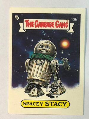 The Garbage Gang Australia Card Sticker Garbage Pail Kids 13b Spacey Stacy 1985