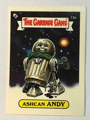 The Garbage Gang Australia Card Sticker Garbage Pail Kids 13a Ashcan Andy 1985