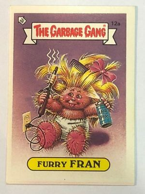 The Garbage Gang Australia Card Sticker Garbage Pail Kids 12a Furry Fran 1985