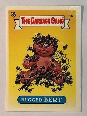The Garbage Gang Australia Card Sticker Garbage Pail Kids 11b Bugged Bert 1985