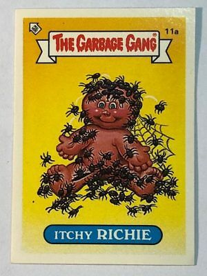 The Garbage Gang Australia Card Sticker Garbage Pail Kids 11a Itchy Richie 1985