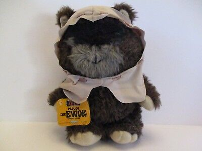 """Vintage Star Wars Paploo The Ewok - Return Of The Jedi - 1984 - 16"""" With Tags"""