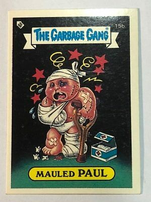 The Garbage Gang Australia Card Sticker Garbage Pail Kids 15b Mauled Paul 1985