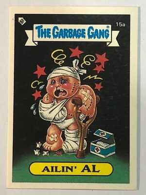 The Garbage Gang Australia Card Sticker Garbage Pail Kids 15a Ailin' Al 1985