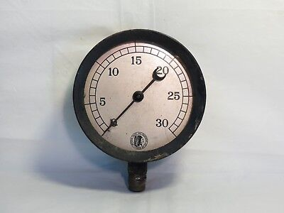 "Antique National Gauge and Equipment no 570 3 5/8"" steam water pressure gauge"