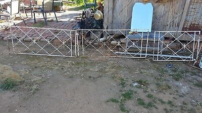 Two sets RETRO WROUGHT IRON GATES selling as pairs one small one large .