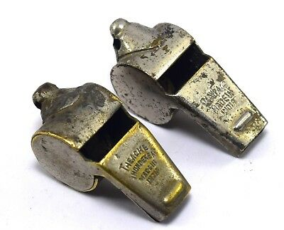 Vintage Pair Of Original The Acme Thunderer Whistle Great Sounds. G70-244 US