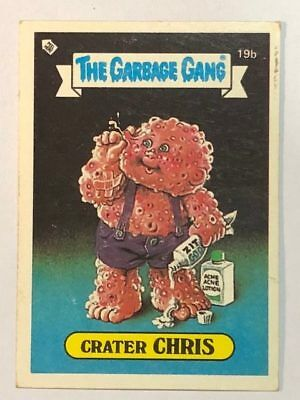 The Garbage Gang Australia Card Sticker Garbage Pail Kids 19b Crater Chris 1985