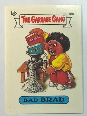 The Garbage Gang Australia Card Sticker Garbage Pail Kids 18b Bad Brad 1985