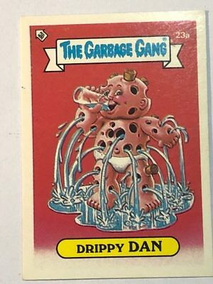 The Garbage Gang Australia Card Sticker Garbage Pail Kids 23a Drippy Dan 1985