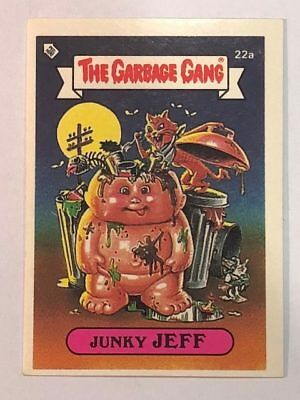 The Garbage Gang Australia Card Sticker Garbage Pail Kids 22a Junky Jeff 1985