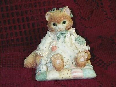 """Calico Kittens You'll Always Be Close To My Heart Mouse 2 3/4"""" Tall 1992"""