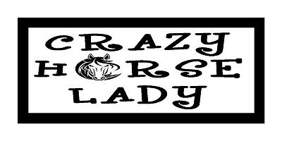Crazy Horse Lady Unique Fun Horse Lover Gift Magnet for Fridge or Car...New!!!