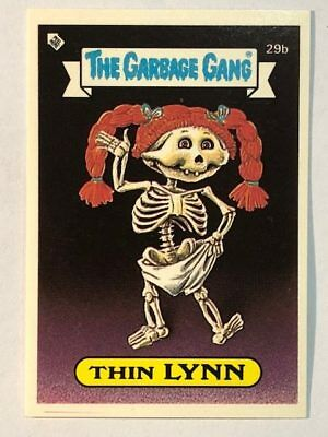 The Garbage Gang Australia Card Sticker Garbage Pail Kids 29b Thin Lynn 1985