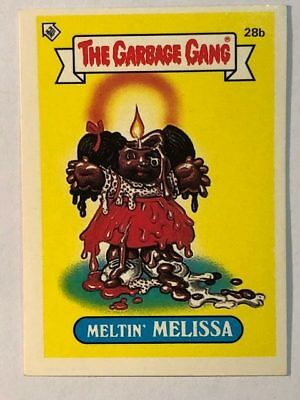 The Garbage Gang Australia Card Sticker Garbage Pail Kids 28 Meltin Melissa 1985