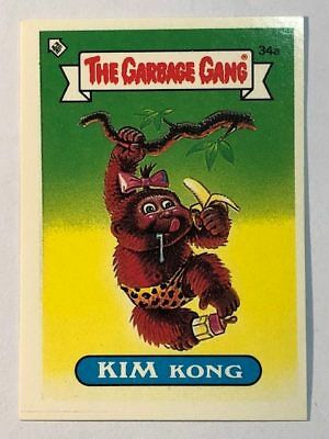 The Garbage Gang Australia Card Sticker Garbage Pail Kids 34a Kim Kong 1985