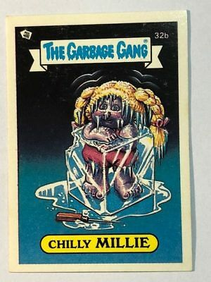 The Garbage Gang Australia Card Sticker Garbage Pail Kids 32b Chilly Millie 1985