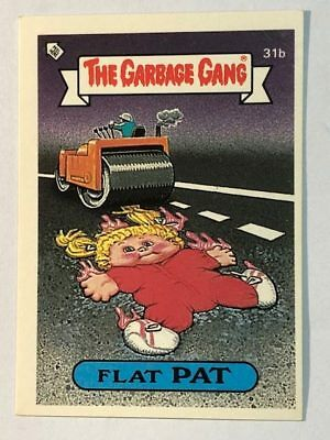 The Garbage Gang Australia Card Sticker Garbage Pail Kids 31b Flat Pat 1985