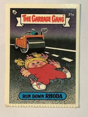 The Garbage Gang Australia Card Sticker Garbage Pail Kids 31 Run Down Rhoda 1985