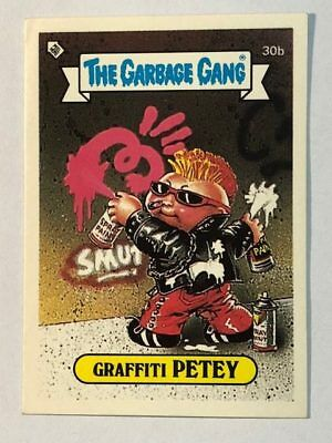 The Garbage Gang Australia Card Sticker Garbage Pail Kids 30 Graffiti Petey 1985