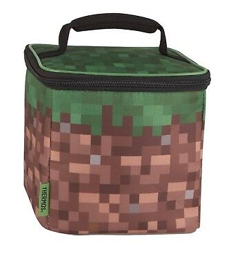 NWT Minecraft Boy And Girl Thermos Insulated Lunch Box Cube.
