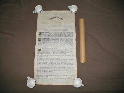 VINTAGE CORONADO CAY CO. Deed Replica on Old Style Parchment Paper